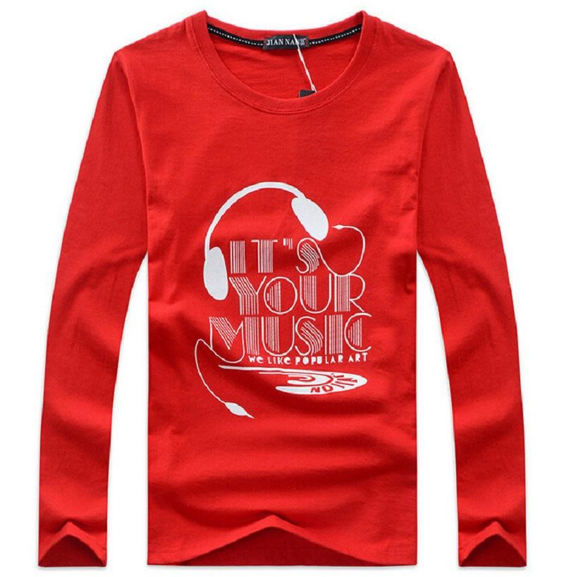 2015 Men Cotton Long Sleeve Name T Shirt Homme Brand