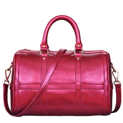 2015 Fashion Cowhide Boston Tote Bags Women Genuine Leather Handbags Plaid Ladies Shoulder Crossbody Bag Bolsas an116