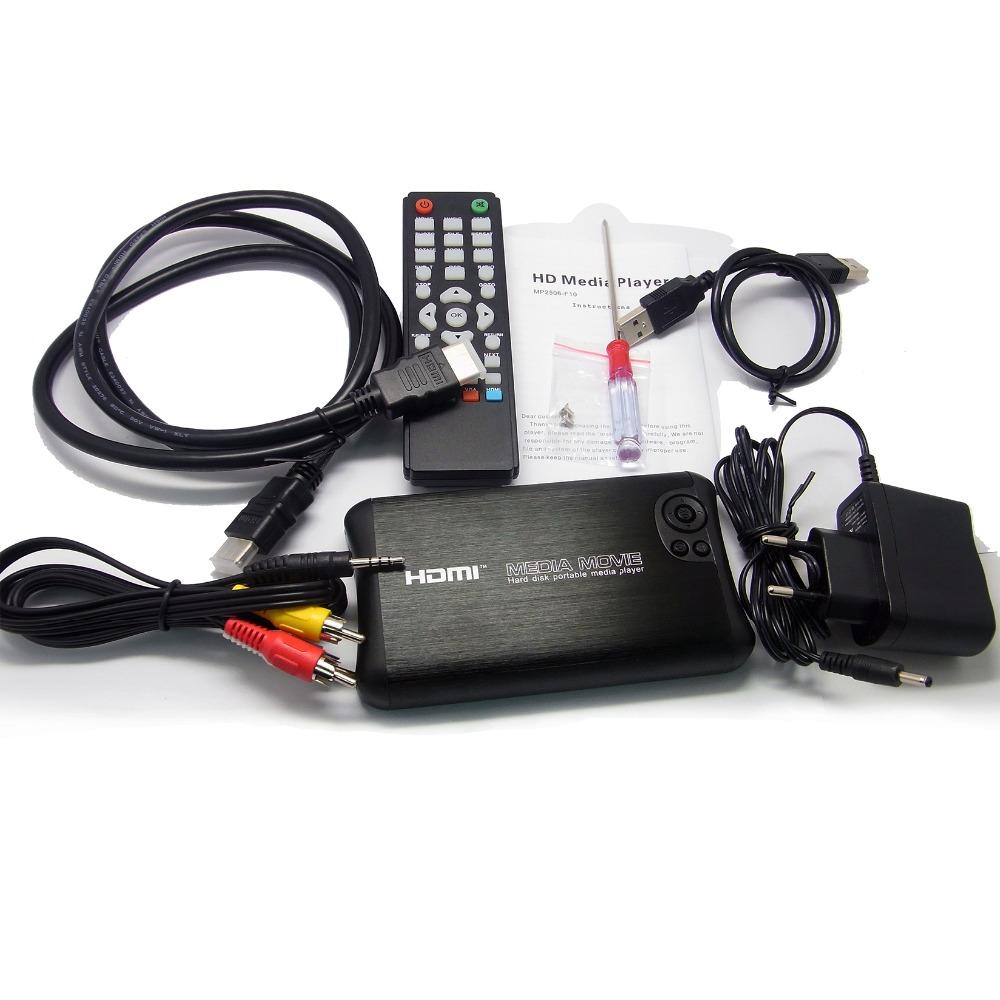 """Portable 2.5"""" SATA Full 1080p HD Hard Disk Media Player HDMI CVBS Output SD Card USB Included 1TB SATA HDD Gift &Free Shipping!(Hong Kong)"""