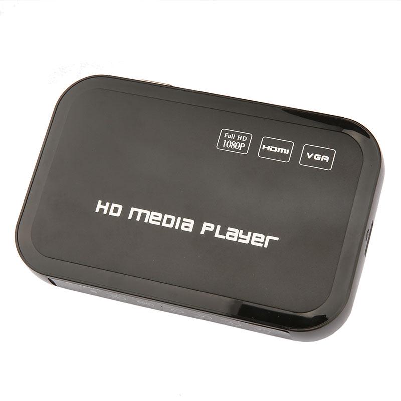 Mini Full HD 1080P HDD Media Player HDMI VGA SD Card MMC Support DIVX AVI RMVB MP4 H.264 FLV MKV Music Movie(China (Mainland))