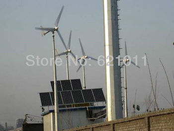 2KW solar & wind hybrid system, 1.5kw solar 0.5kw wind turbine, best hybrid energy system for good sunshine and rich wind area