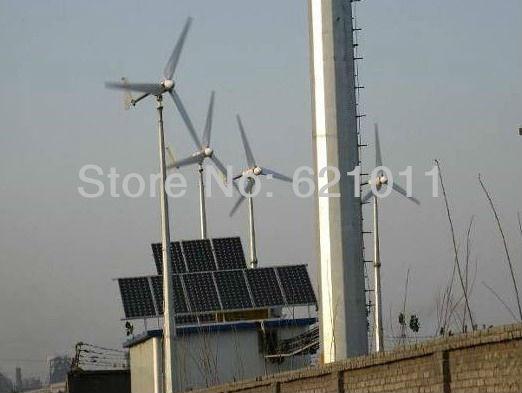 2KW solar & wind hybrid system, 1.5kw solar 0.5kw wind turbine, best hybrid energy system for good sunshine and rich wind area