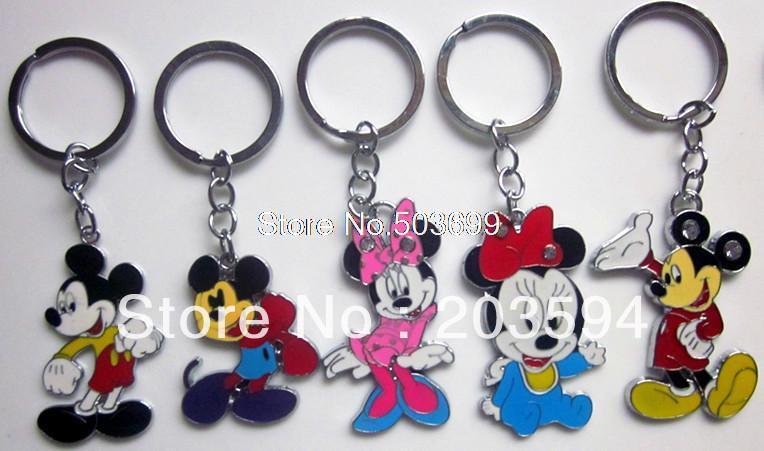 K3014 Wholesale Mixed 20Pcs/lots Enamel Mickey mouse Key Chain Pendant Charm Key ring<br><br>Aliexpress