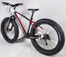 best quality chinese cheape 26er full carbon fat bicycles with colors and logos complete snow bicycles with thru axles(China (Mainland))