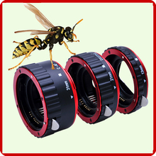 Metal Mount Auto Focus AF Macro Extension Tube Ring for Canon 600d 70d 5d mark iii 60d 650d 550d 1100d 7d 6d 700d Lens Adapter