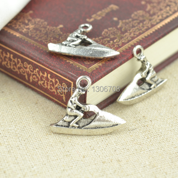 HOT 50pcs Necklace&bracelets making for metal motorboat charms tibetan silver pendants diy jewelry findings and components 3079(China (Mainland))
