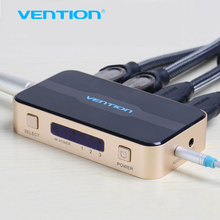 Vención 3 entrada 1 salida HDMI Switch Conmutador de Splitter HDMI Cable HDMI con audio para xbox ps3 smart hd 1080 p hdmi 1 entrada 2 fuera