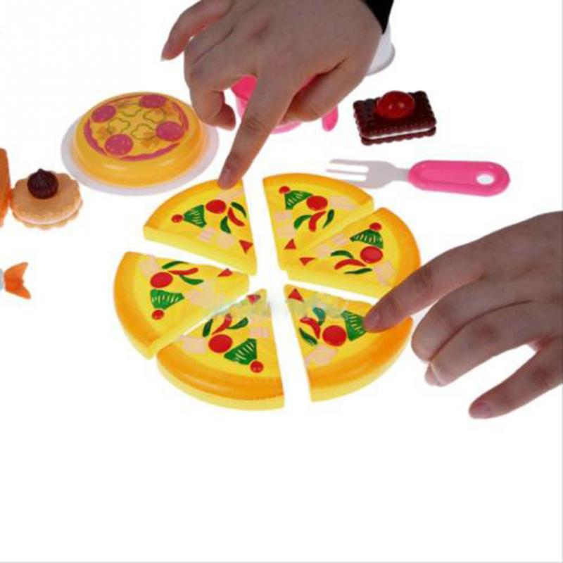 Kitchen Pizza Party Fast Food Cooking Cutting Pretend Play Toy Set For Kids(China (Mainland))