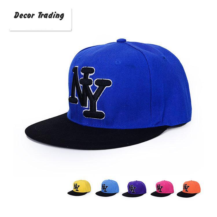 2015 Spring Summer Men Women Hip Hop Hat Baseball Cap Fashion Bone NY Cap Sun Shade Hat Flat Gorras Planas Sun Visor (China (Mainland))