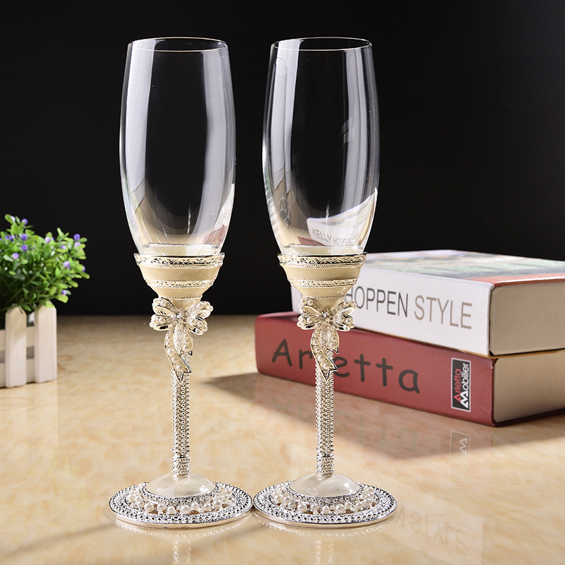 Wedding Gift Glass Painting : Art Glass Goblets Promotion-Shop for Promotional Art Glass Goblets on ...