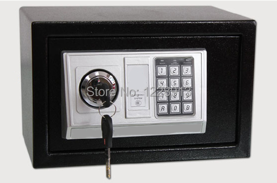Three-color mini household electronic password strongbox stainless steel cipher safe box(China (Mainland))