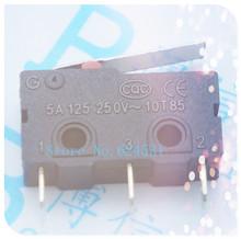 Free shipping 50pcs Tripod Medium Micro Switch KW11-3Z-2 Straight Shank tripod 5A 125 250VAC contact switch(China (Mainland))