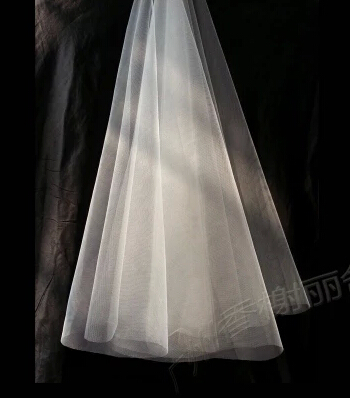 61706 2015 New White 3 meter Floor Long Bridal Veils Elegant Wedding Accessories Dress Bride Cathedral