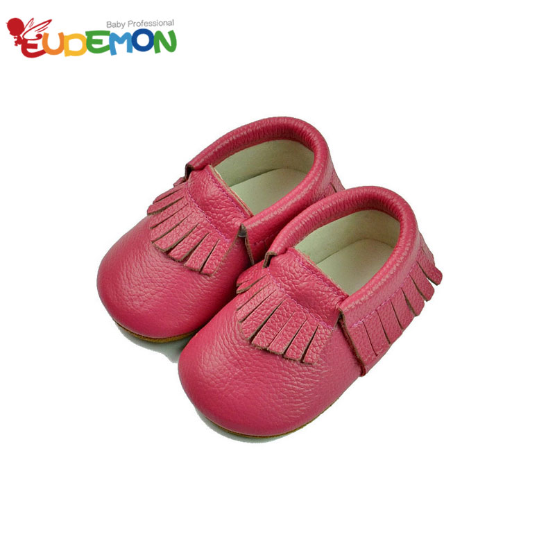 [Eudemon] Tassel baby shoes Cow Leather Skid baby girl shoes Child First Walkers baby boy shoes Toddler baby moccasins(China (Mainland))