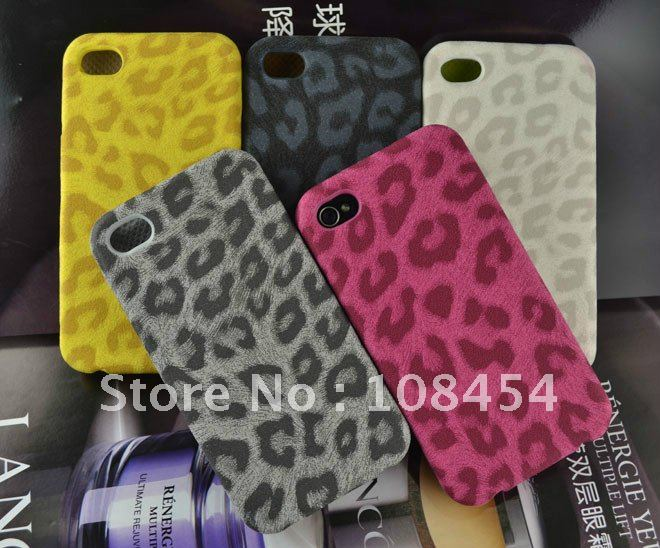 Newest Original Leopard leather case for Iphone 4g 4s wallet pouch women handbags Skin case perfume luxury smartphone cover