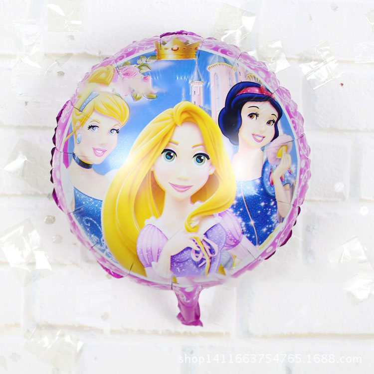 new children's toy princess balloons aluminum balloons birthday party balloons wholesale(China (Mainland))