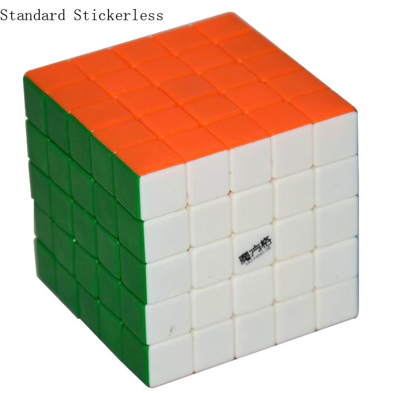 Qiyi MoFangGe Aohu 6.2cm 5x5x5 Standard Stickerless/Stickerless Bright Magic Cube Speed Puzzle Cubes 5*5*5 Cube(China (Mainland))