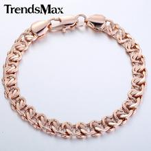 Customize size 8MM Boys MENS Bangle Curb Cuban Snail Bracelet  Gold Filled Bracelet Wholesale Jewelry Gift  GB209(Hong Kong)