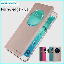 Nillkin For Samsung Galaxy S6 edge Plus Case Hight Quality Smart Sleep Function Phone Case Cover For Samsung Galaxy S6 edge Plus