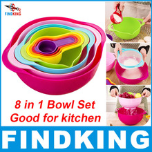 FINDKING brand high quality mother day gift 8 piece in one set Multicolor creative kitchenware set kitchen Bowl set kitchen tool(China (Mainland))