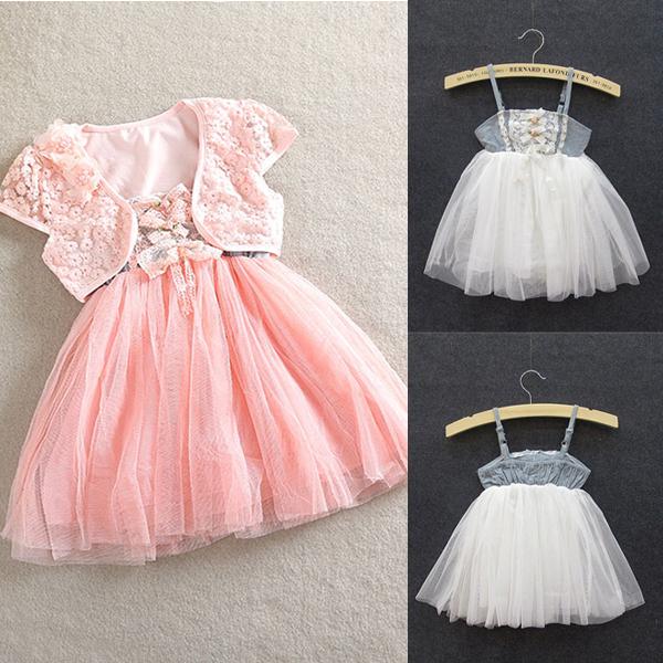 Горячая распродажа 1-5Y девушок малыша 2 шт. кружевные шали ремни пачка платье платье принцессы бесплатная доставка