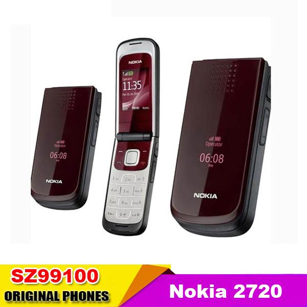 2720 Original Nokia 2720 mobile phone Dual Band 1.3MP Camera Bluetooth FM Vedio JAVA Free shipping Good quality refurbished(China (Mainland))