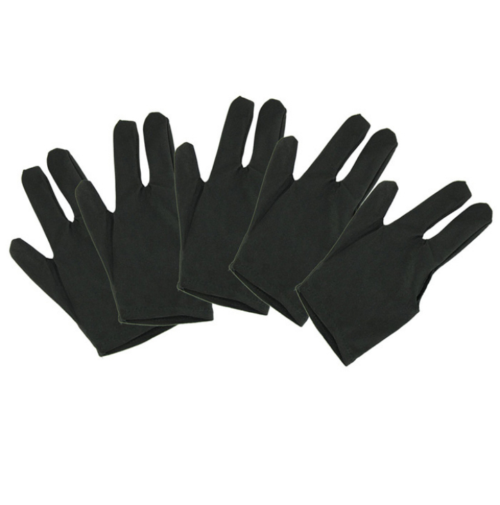 Delicate 5 Pieces Black Pool Cue Glove for Snooker Billiards Hot Selling(China (Mainland))