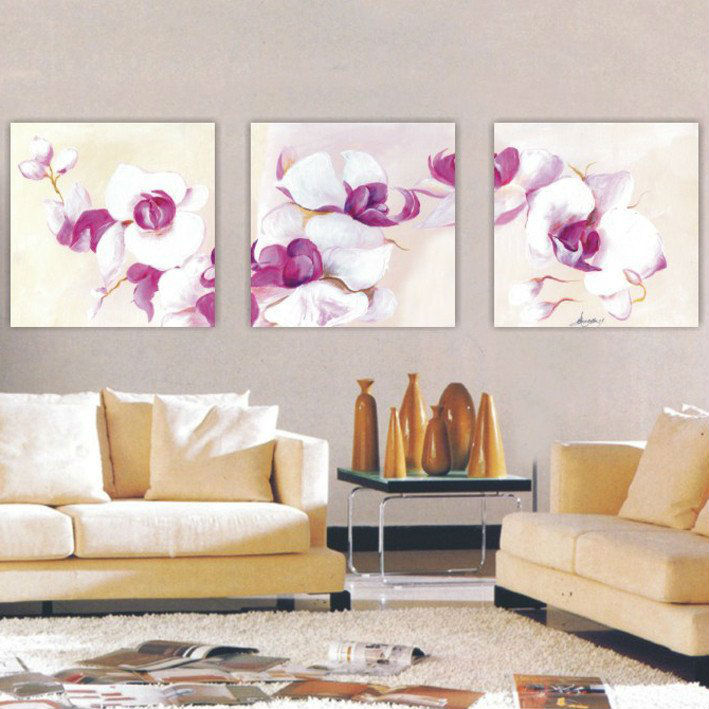 Free shipping high quality hand painted group map oil for Set of three canvas paintings