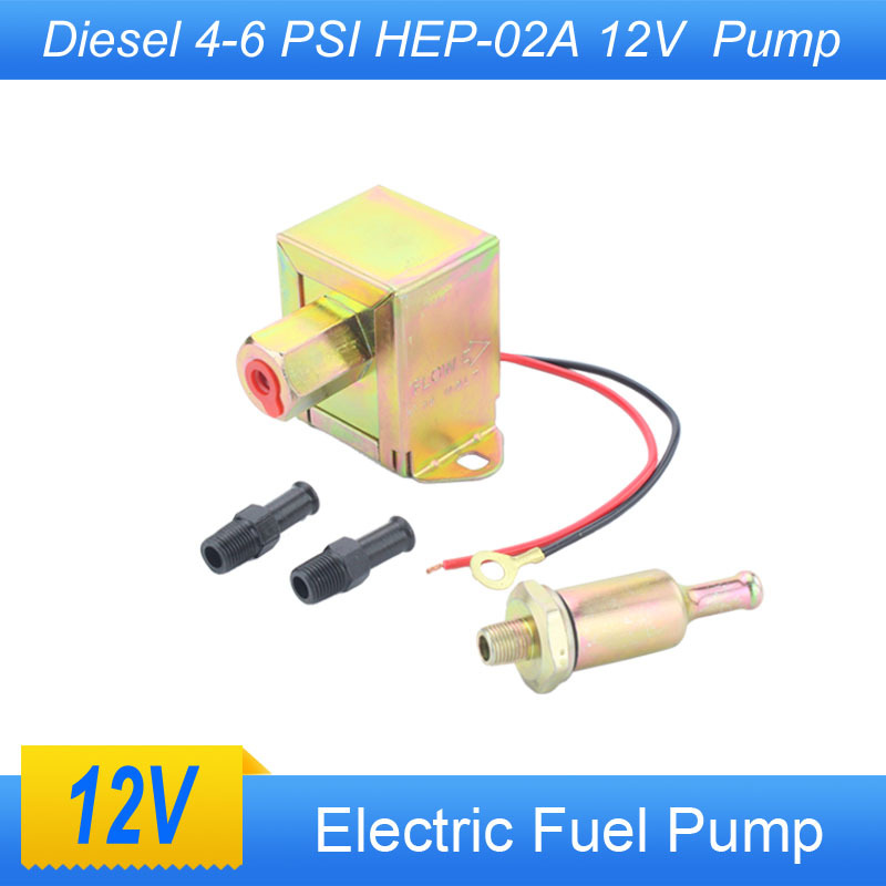 High Quality New 12V Electric Fuel Pump Heavy Duty Low Pressure Electric Fuel Pump Diesel 4-6 PS(China (Mainland))