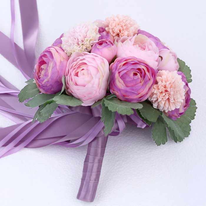 Bridal Bouquet Out Of Ribbons : New high quality wedding bouquet bridal bridesmaid flower