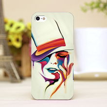 pz0022-17 hat man Design Customized cellphone casess For iphone 4 5 5c 5s 6 6plus Shell Hard transparent Skin Shell cover cases