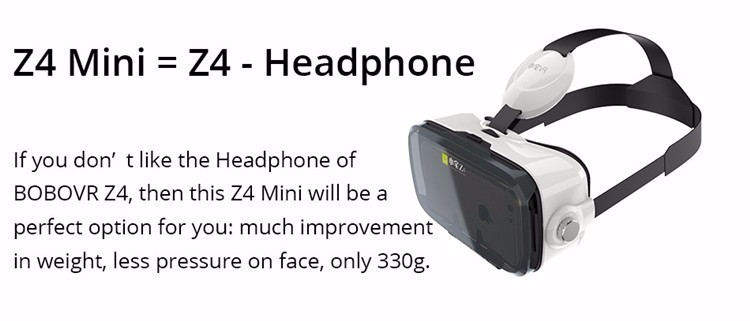 BOBOVR Z4 Mini 3D Virtual Reality VR Glasses Cardboard VR Box Head Mount for iPhone 6 6S Plus & Android 4.7-6 Smartphone
