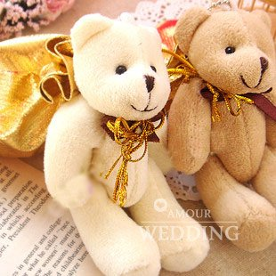 50PCS/LOT Wholesale Wedding Party Valentine's Gifts Favor Candy Boxes Case Bag Sweet Honey Cute Bear Coin Bag FREE SHIPPING(China (Mainland))