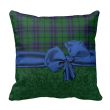 Worse Green Damask And font b Tartan b font Plaid Pillow Case Size 20 by 20