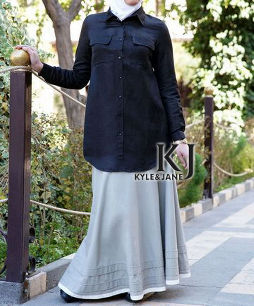 العباءة kyle و jane الشرق الأوسط المرأة تونك عارضة اللباس الإسلامي الستر الملابس طويلة الأكمام اللباس الإسلامي الباكستانية KJ-TOPS10023(China (Mainland))