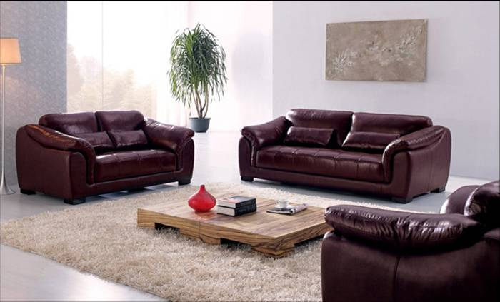 Free Shipping European Style Furniture Hot Sale High Quality Genuine Leather 123 Sofa Living