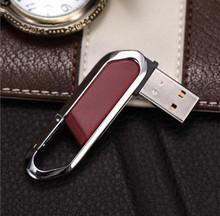 Key Chain leather Metal 2.0 USB Flash Drive pendrive memory stick Nice Gift 4GB 8GB 16GB 32GB 64GB
