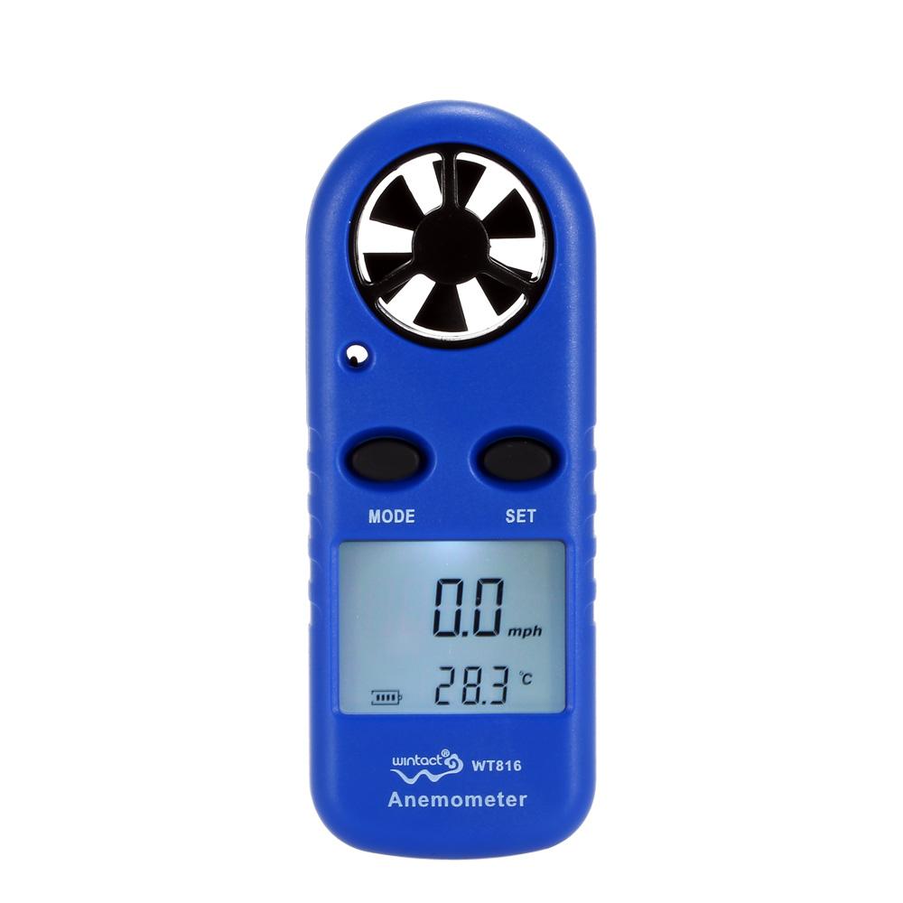 LCD Mini Anemometer Multifunctional rpm tachometer Wind Speed Air Velocity Temperature meter Measurement Beaufort Scale Display(China (Mainland))