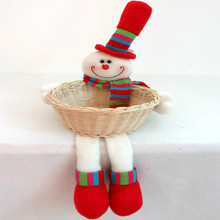 Santa Claus doll Christmas baskets child supplies crafts home decorative items for Christmas Decoration(China (Mainland))