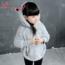Free Shipping 2015 Autumn Winter Girls Children Cute Girls Hoodies Character Pattern Batwing Sleeve Warm Sweatshirt for Girls(China (Mainland))