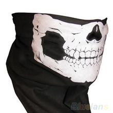 Skull Bandana Bike Motorcycle Helmet Neck Face Mask Paintball Ski Sport Headband 002J