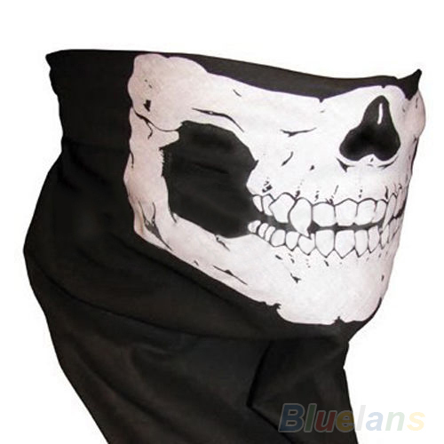 Skull Bandana Bike Motorcycle Helmet Neck Face Mask Paintball Ski Sport Headband 002J(China (Mainland))