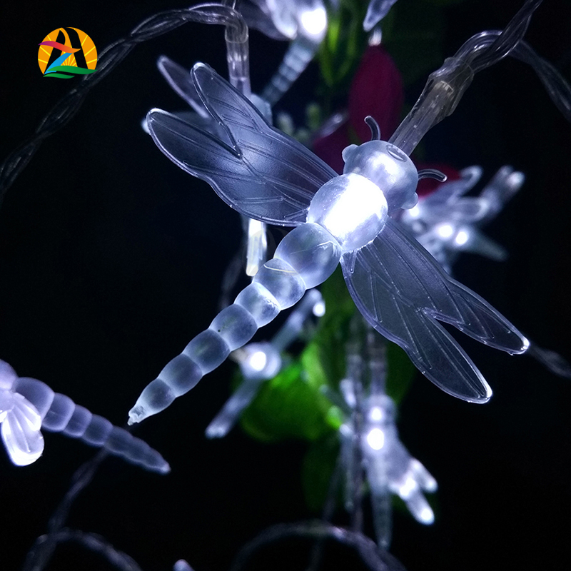 2016 Fashion Holiday Lighting Novelty Multicolor Romantic Dragonfly LED Lights Battery and Parties Wedding Decoration Lightings(China (Mainland))