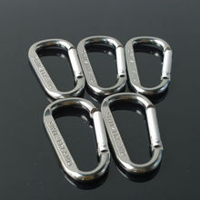 Aluminum Alloy D Shape Climbing Carabiner Screw Lock Bottle Hook Buckle Hanging Padlock Keychain Camping Hiking