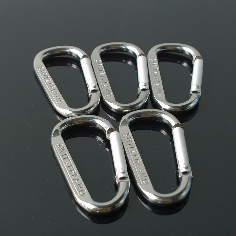 Carabiner D Ring Camp Snap Clip Hook Buckle Keychain Keyring Hiking Climbing
