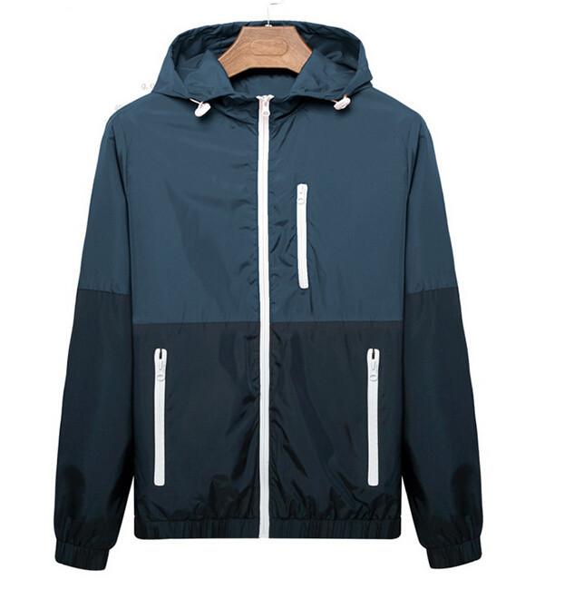 Men's Summer Thin Jackets 2015 New Spring Summer Windbreaker Sports Jacket Men Outdoors Sportswear Slim Fit Men Clothing ZHZ1499(China (Mainland))