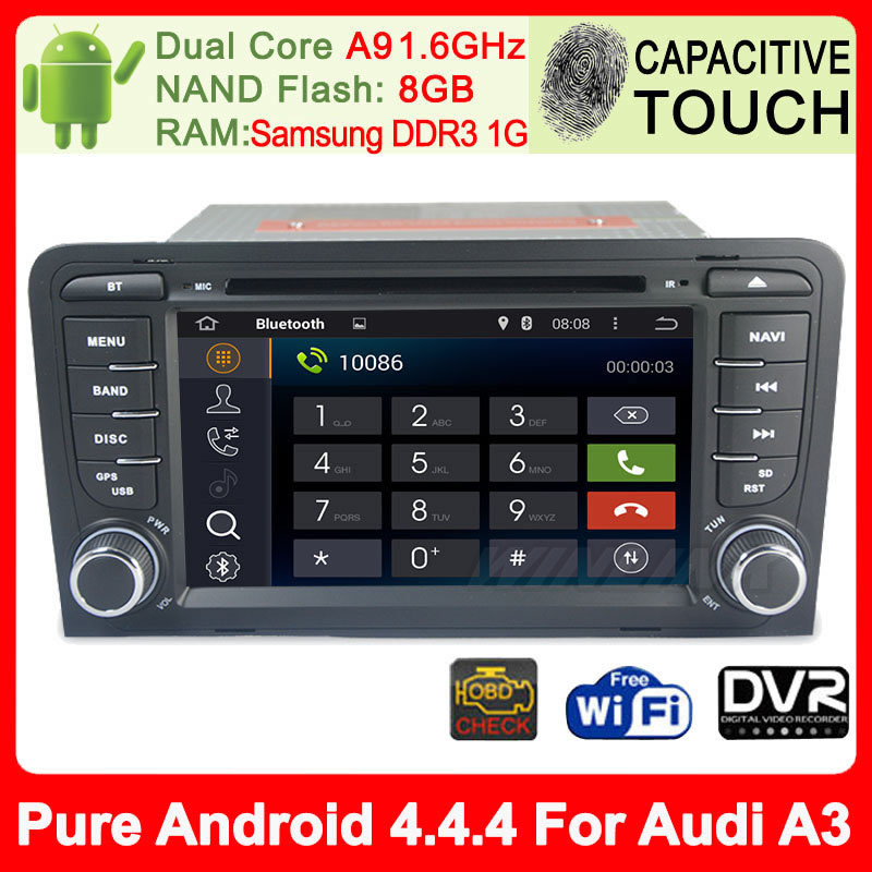 "Special 7"" Android 4.4.4 Car DVD GPS for Audi A3 2003-2011 with Stereo Radio Bluetooth Phone Support 3G OBDll IPod Navigation(China (Mainland))"