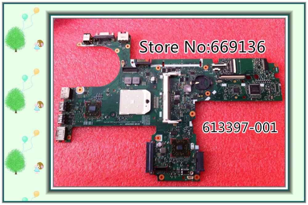 For HP 6555B 6445B 613397-001 Laptop Motherboard Mainboard AMD ddr2 100% Tested Free Shipping Shenzhen(China (Mainland))