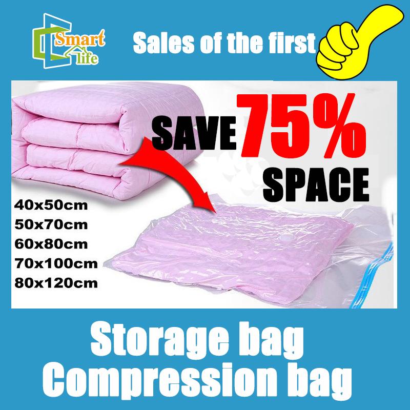 5pcs/lot 40*50/50*70/60*80/70*100/80*120 Home organizer Space storage compressed vacuum bag(China (Mainland))