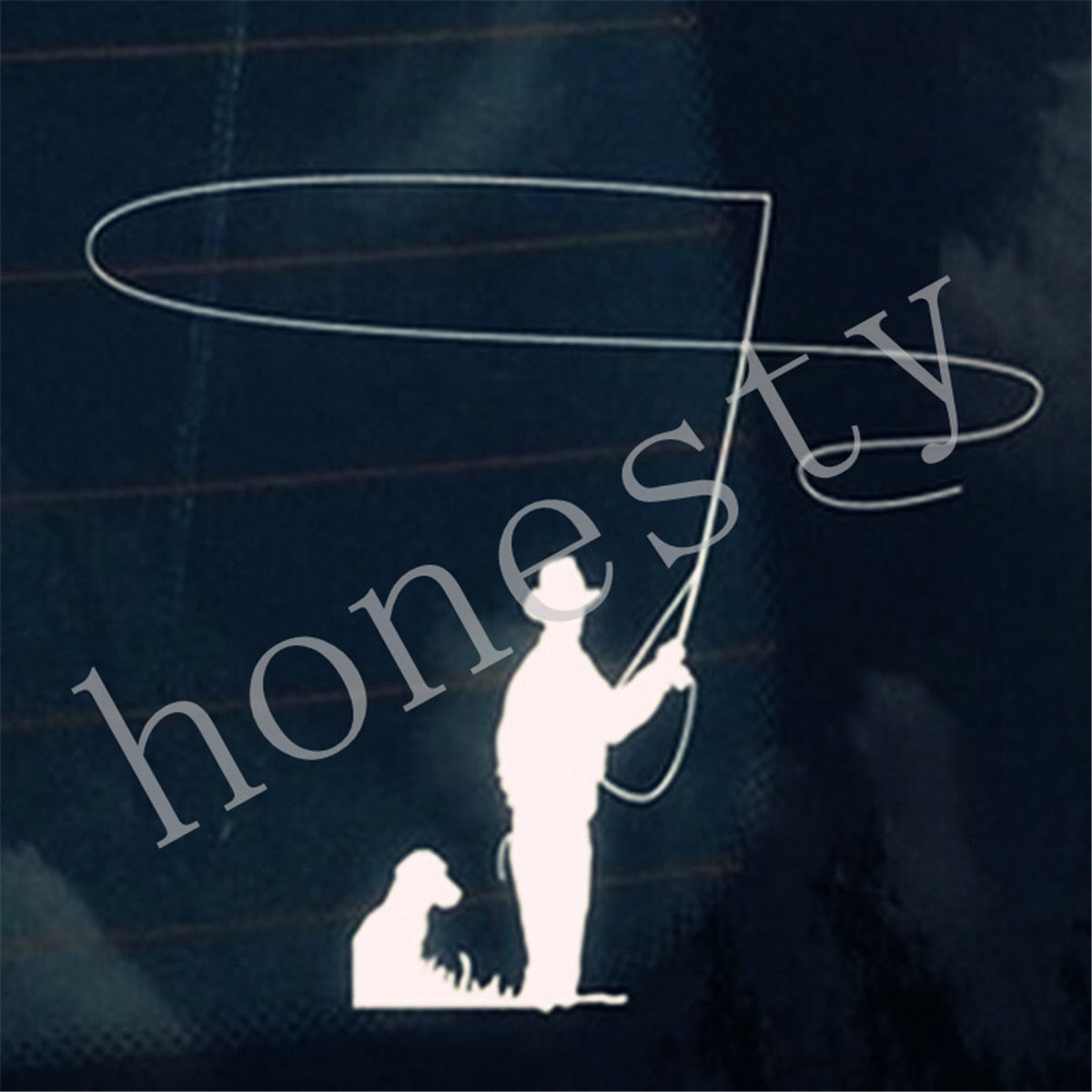 Fly fishing sticker promotion shop for promotional fly for Fishing stickers for trucks